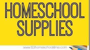 Homeschool Back-to-School Supplies