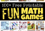When it comes to math, kids need LOTS of practice! But practicing math is not always tops on kids' list. But kids love playing games! So turn practice into fun math game sand kids will be eager to get in that all-important math practice. We have printable maths games for preschool, pre-k, kindergarten, first grade, 2nd grade, 3rd grade, 4th grade, 5th grade, and 6th graders too! The hardes part is picking whichprintable math games to try first!
