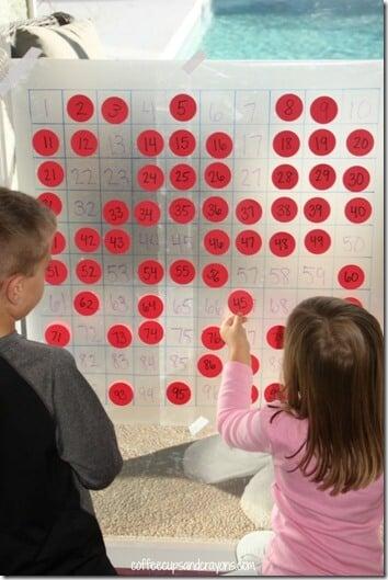hundreds chart activity