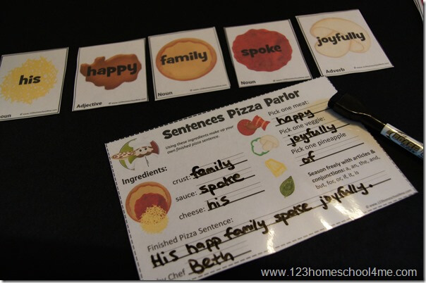 silly sentences activity for students
