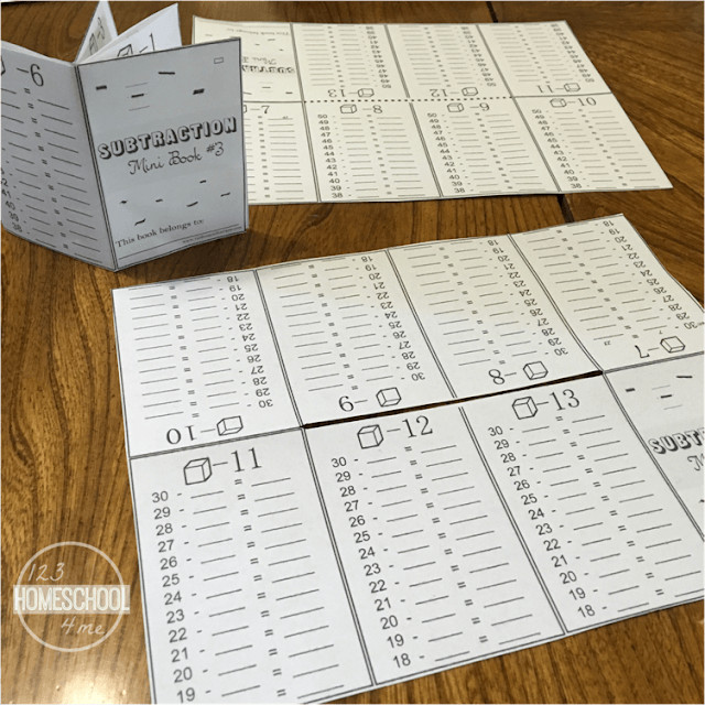 free printable subtraction practice for first grade, 2nd grade, 3rd grade and 4th grade students