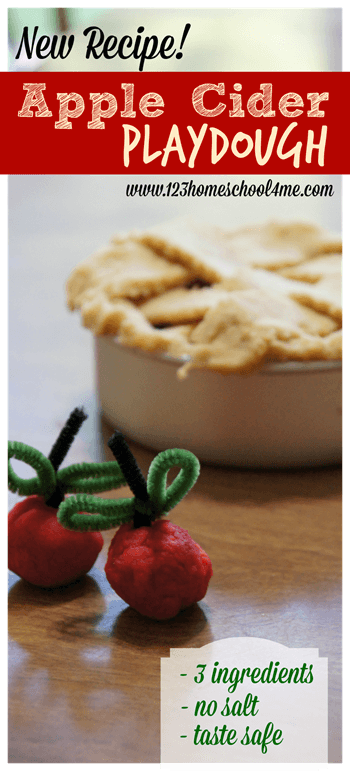 amazing aplpe cider playdough recipe