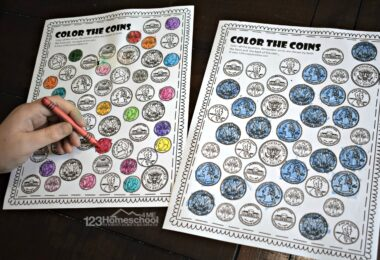 Free printable Coin Worksheets to teach kindergarten and first grade students to identifying quarters, dimes, nickels, pennys, and more