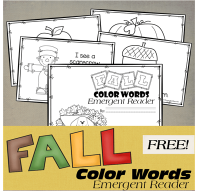Color Words Emergent Readers