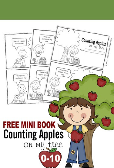 FREE Counting Apples Mini Book