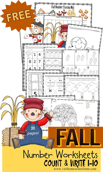 For Homeschooling or Practice Number Tracing and Coloring Printable Worksheets