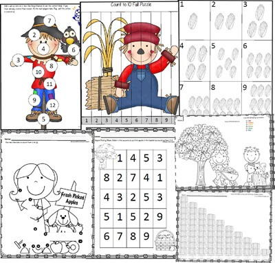 Fall Number Worksheets TPT2