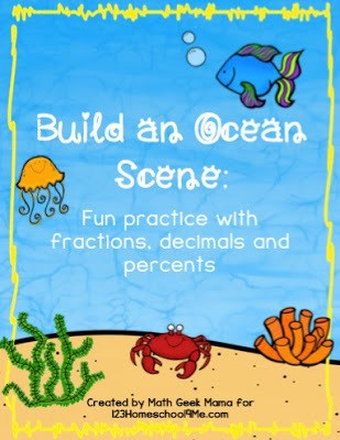 Ocean Math Activities for grade 3, grde 4, grade 5, and grade 6 math. It is FREE!