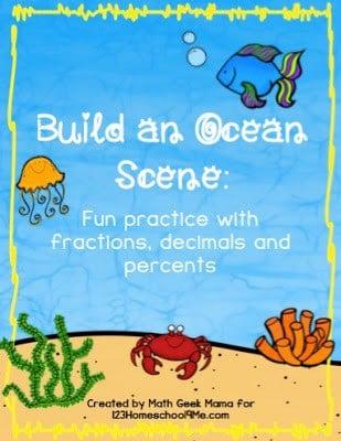 Ocean Math Activities for grade 3, grde 4, grade 5, and grade 6 math. It is FREE!