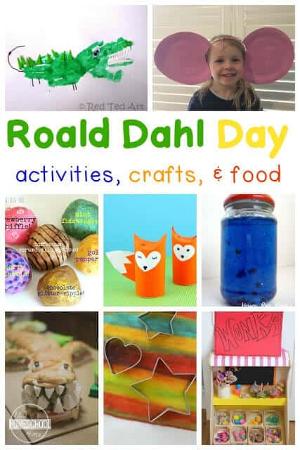 Roald Dahl Day is celebrated around the world on September 13th. The fun holiday is a celebration of all the amazing Roald Dahl books along with lesson plans,roald Dahl Craft Ideas, activities,a nd more! We've included charlie and the chocolate factory crafts that your preschool pre-k, kindergarten, first grade, and 2nd grade students will love!