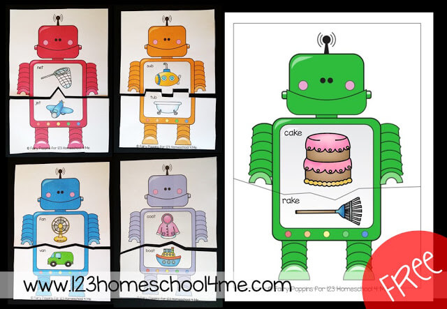 rhyming robot printable
