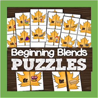 beginning blends fall puzzles