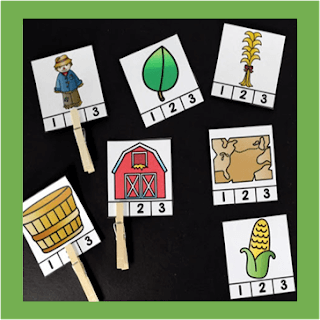 fall syllable clip cards