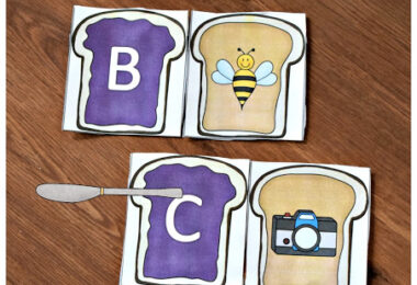 Alphabet Peanut Butter and Jelly Sandwiches
