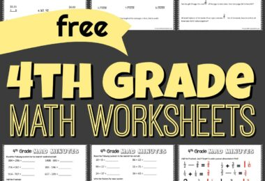 grade 4 math - free printable math pages for practicing multiplicaiton, division, word problems, adding and subtracting fractions, and more