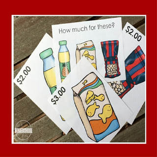 grocery task cards money activity