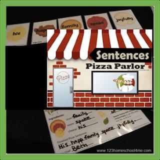 Sentence Pizza Parlor