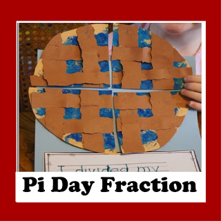 pi day fraction activity for kids