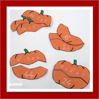 order of operations pumpkin puzzles