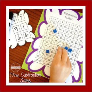 Subtraction Bingo Math Game