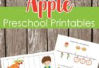 Help pre k and preschoolers have fun practicing counting, adding, subtracting, making patterns, and using bingo marker to match colors with these FREE Apple Worksheets Preschool  for September. This fall preschool pack makes learning fun with themed worksheets.