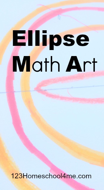 EASY to try STEM activity for kids to use math and art while exploring an Ellipse