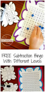 subtraction-bingo