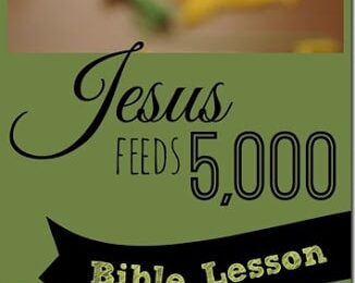 Jesus Feeds 5000 craft and Sunday School Lessons with a free printable bible crafts for kids that is simple-to-and a fun Bible Games for kids preschool, toddlers, kindergarten, first grade, 2nd grade too. #sundayschool #bible #jesusfeeds5000