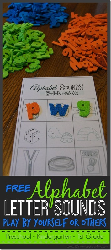 FREE Letter Sounds alphabet game that you can play by yourself or with others; preschool, kindergarten, 1st grade