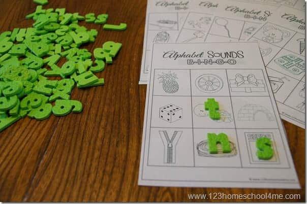 free printable Phonics Bingo