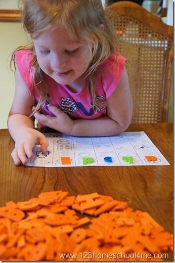 PreK, Preschool, and Kindergarten letter recognition activity