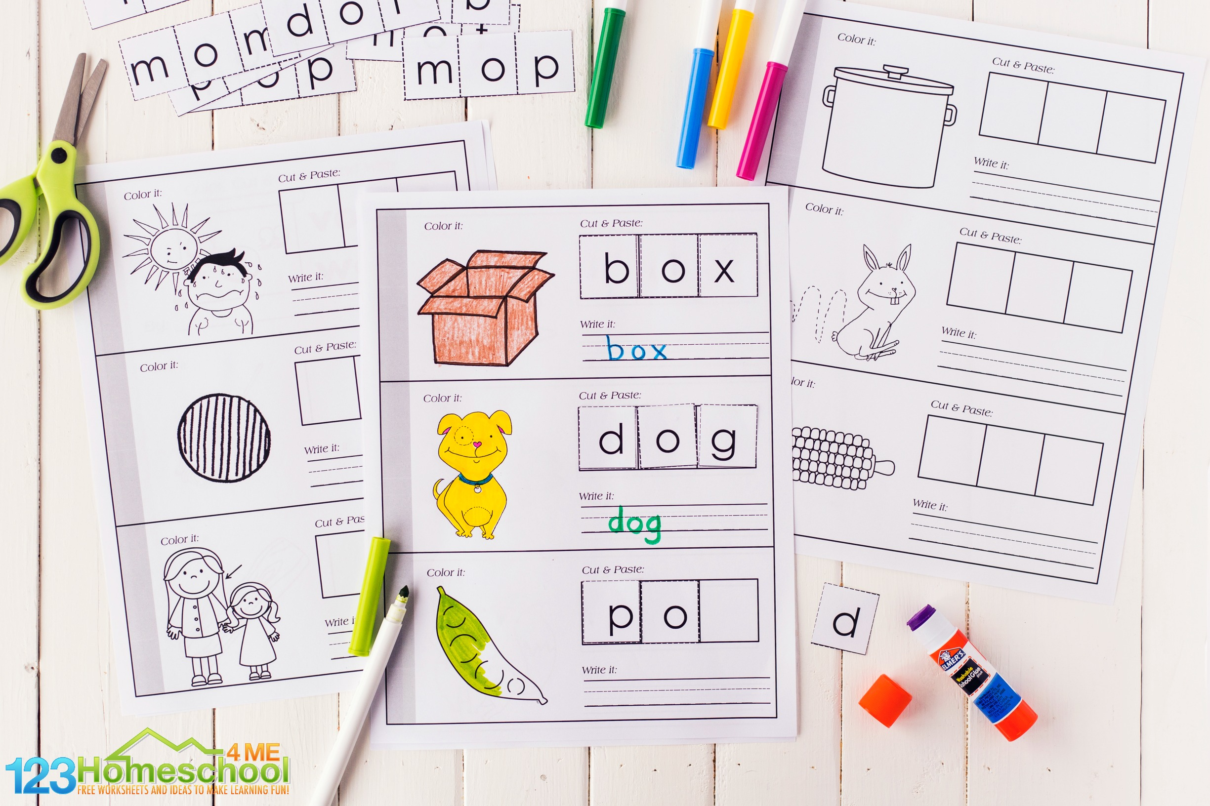 learn short o words with this free short o words printable activity