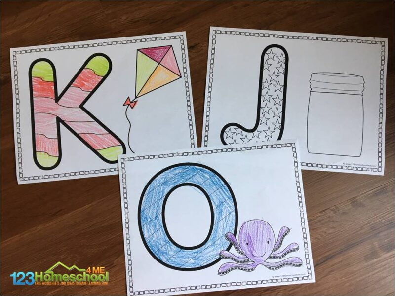 ABC Coloring Sheets FREE