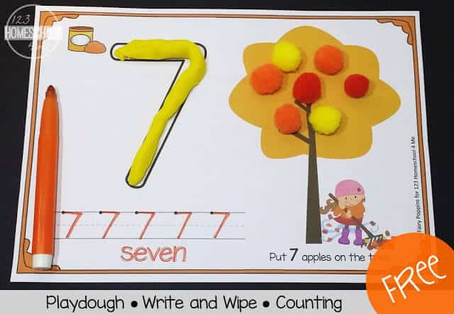 use these number mats to practice fall counting, tracing numbers 0-10, and more with toddlers, preschoolers, and kindergartners