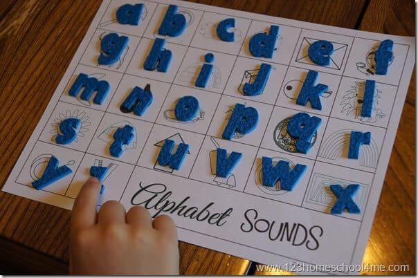 letter sounds bingo printable