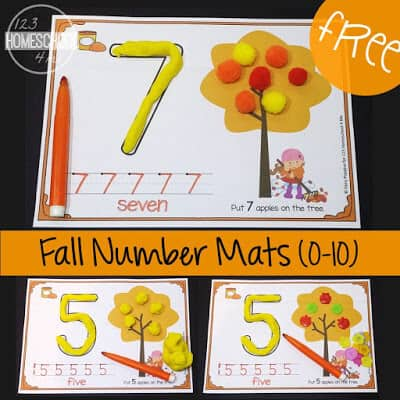 fall themed playdough mats make the perfect math activity for preschoolers