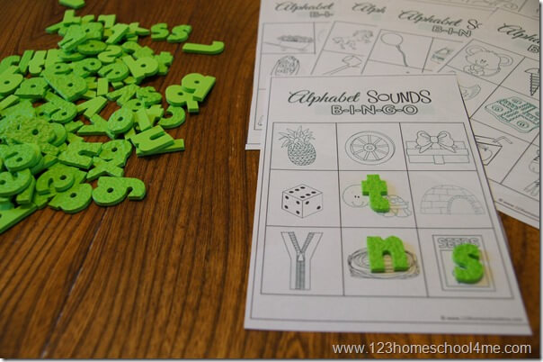 practice recognizing alphabet letter sounds with this fun free printable game