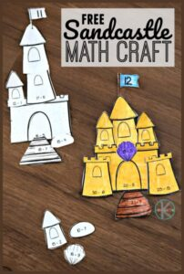 super cute cut and paste subtraction math craft to practice addition in kindergarten, 1st grade, and 2nd grade students.