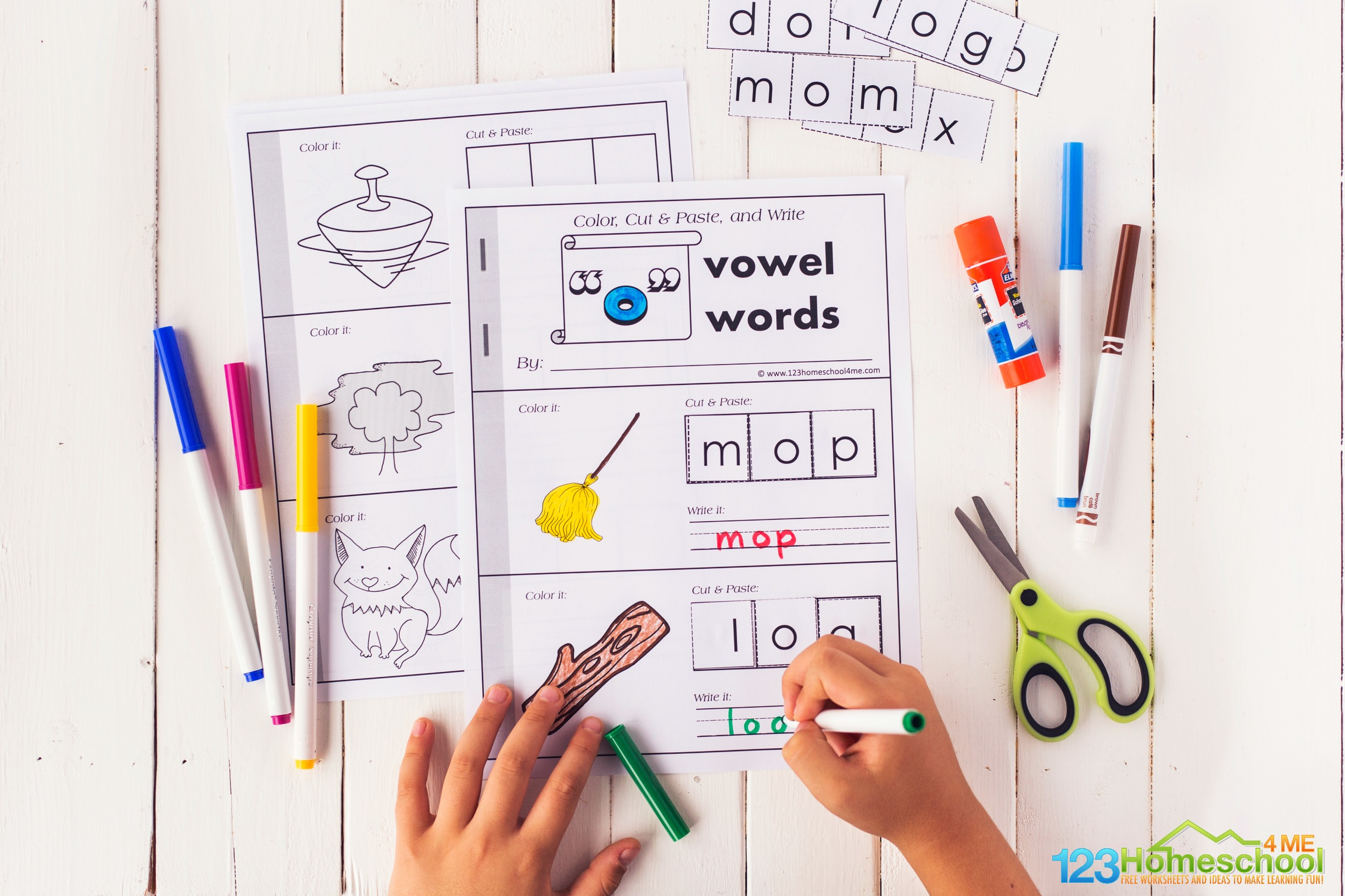 free printable short o words cvc printable for kindergarten and first grade students