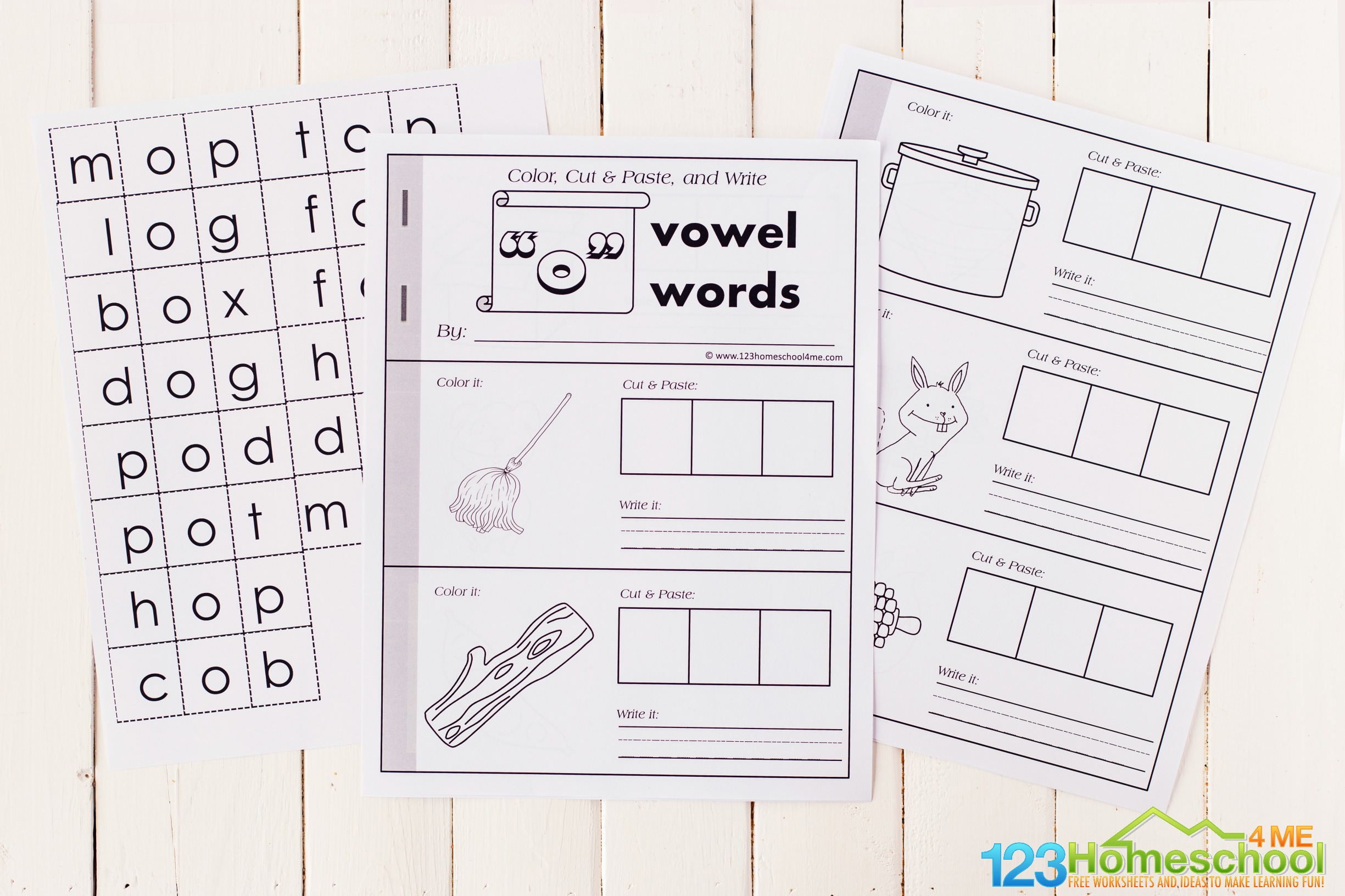 free printable short o worksheets