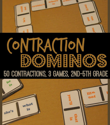 FREE Contraction Dominoes Game