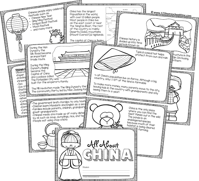 Free printable China Book for Kids