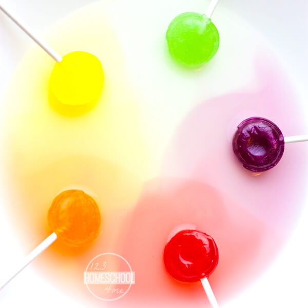 Lollipop science project for kids