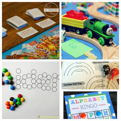 teaching language arts with candy (spelling, grammar, alphabet letters, and more)