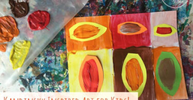 Kadinsky Inspired Fall Art Project for Kids