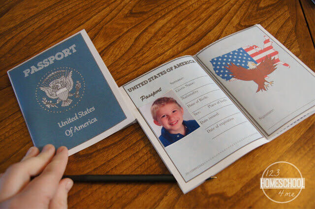 This is a graphic of Printable Passport for Kids with regard to passport application