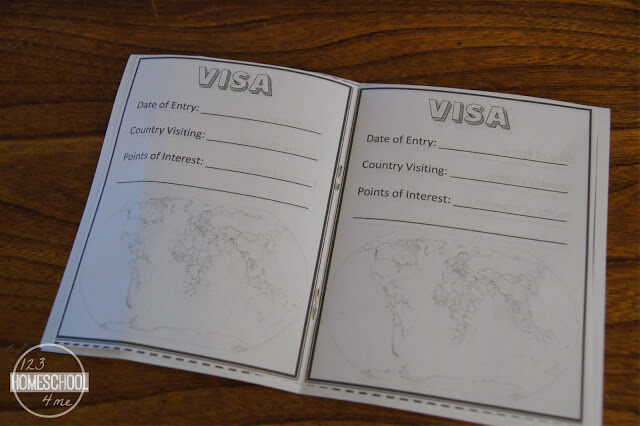 free printable passport for homeschool kids studying geography