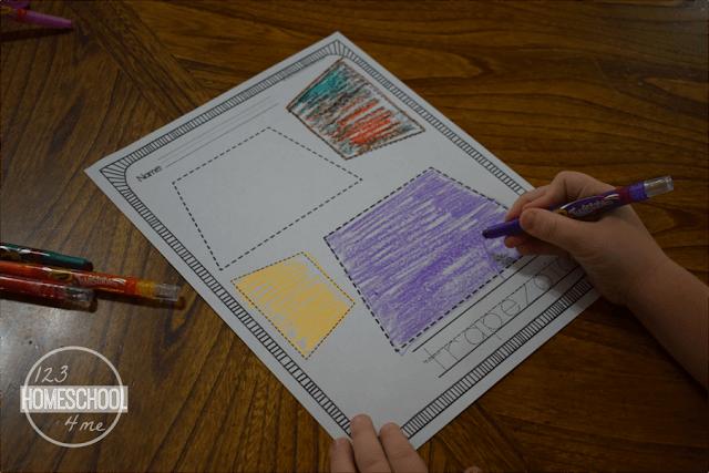 FREE Printable Shapes Worksheets - learning shapes fun activities for toddler, preschool, prek, kindergarten, first grade