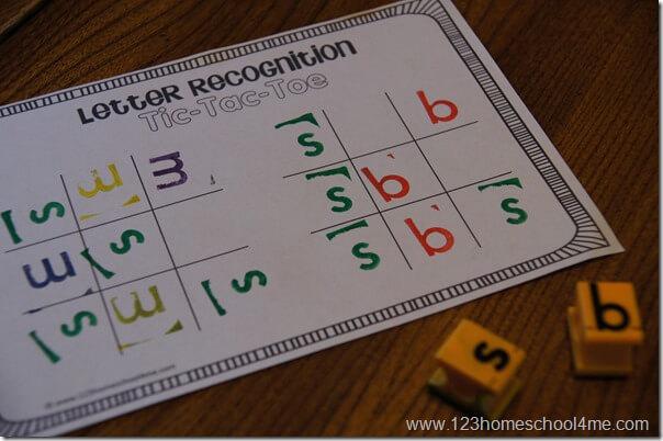 no prep letter recognition alphabet game for preschool kindergarten 1st grade