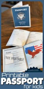 Make geography come alive by using these free printable passport for kids. Childrne can pretend like they are traveling all around the world as they study and learn about other countries while keeping a record of where they've been. This free printable passport activity is fun for toddler, preschool, pre-k, kindergarten, first grade, 2nd grade, 3rd grade, and 4th grade students. Inside their passport for kids they can put their picture, personal information, signarure, and informatin about the countries they travel to. Simply print pdf the free printable passport for kids file and you are ready to go around the world!